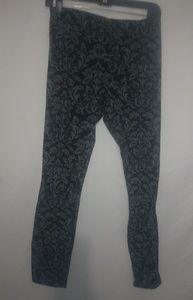 Black Gray Leggings 16/18 XL Plus
